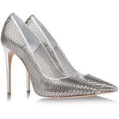 Casadei Pumps Silver found on Polyvore