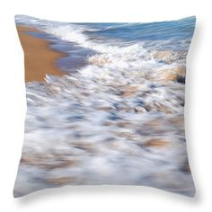"Water in Motion Throw Pillow 14"" x 14"""