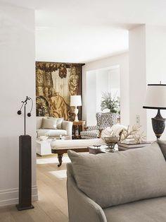 home interior decor Beautiful Living Rooms, Living Room Modern, Home And Living, Living Room Designs, Classic Interior, Modern Interior, Interior Design, Elegant Homes, Decoration