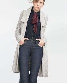 Image 2 of LONG SLEEVE COAT from Zara