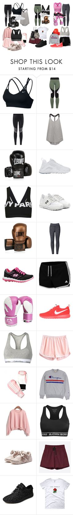 """""""boxing"""" by lolianalobo on Polyvore featuring NIKE, Charli Cohen, Leone 1947, Topshop, Y-3, WithChic, Skechers, adidas, Everlast y Calvin Klein"""