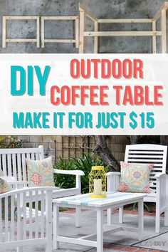 Learn how to make an easy DIY Coffee Table with detailed plans and step by step tutorial. Perfect outdoor furniture project for beginners. #anikasdiylife #woodworking Kreg Jig Projects, Scrap Wood Projects, Woodworking Projects That Sell, Diy Woodworking, Furniture Projects, Diy Furniture, Outdoor Furniture, Coffee Table Plans, Outdoor Coffee Tables