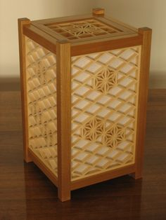 Small andon. Using the Flower of Life motif.
