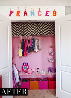 Big Girl Room closet makeover