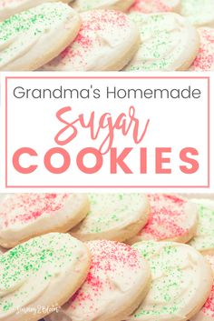 Grandmas homemade sugar cookies. The softest easy to make sugar cookie that your family will love. Make these for any occasion or holiday- Valentines, Christmas, Birthday, Easter, etc.