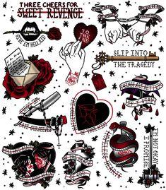 19 Ideen Musik Tattoo Ideen Bands My Chemical Romance 19 Ideen Musik Tattoo Ide . - 19 Ideen Musik Tattoo Ideen Bands My Chemical Romance 19 Ideen Music Tattoo Ideas Bands My Chemical - Flash Art Tattoos, Emo Tattoos, Goth Tattoo, Kunst Tattoos, Music Tattoos, Body Art Tattoos, Small Tattoos, Word Tattoos, Ship Tattoos