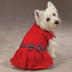 XXS Preppy Red Nautical Polo Dress for Dogs $49.99