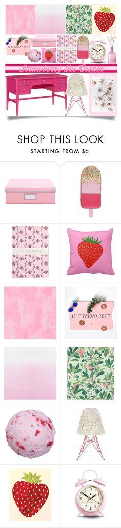 """Strawberry Off-Ice Cream"" by atarituesday on Polyvore featuring interior, interiors, interior design, home, home decor, interior decorating, Accessorize, Ladurée, Designers Guild and Cole & Son"