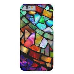 Stained Glass mosaic image on iPhone 6 case