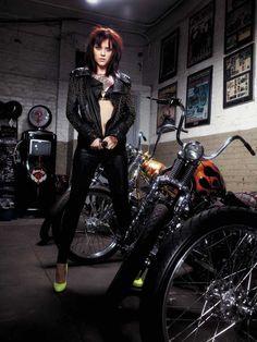 Tattooed Biker Girl Photography