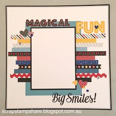 I am always looking for creative ways to use up the paper scraps that are inevitably left over at the end of a Paper Packet or Scrapbooking ... Cruise Scrapbook, Disney Scrapbook Pages, Scrapbook Templates, Scrapbook Designs, Scrapbook Journal, Scrapbook Sketches, Scrapbook Page Layouts, Baby Scrapbook, Travel Scrapbook