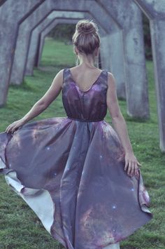 Australe  Asymmetrical Galaxy Dress by galaxygarments on Etsy, $250.00