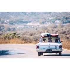 Surf trip.