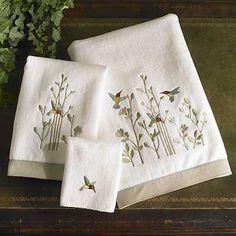 Hummingbird Embroidered Towels|WildWings