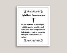 Spiritual Communion Prayer I wish My Lord to receive You | Etsy Communion Prayer, Eucharist, Catholic Prayers, Color Calibration, I Wish, My Lord, Humility, Keep In Mind, Printing Process