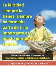 Visita: http://comosuperar-ladepresion.blogspot.com/  y Descubre el secreto para superar la depresión