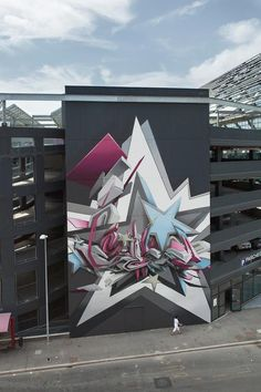 By the pioneering and humble Daim - a German artists who has consistently pushed the frontiers of graffiti. Daim Graffiti, Graffiti Murals, Street Art Graffiti, Graffiti Artists, Graffiti Lettering, Typography, Amazing Street Art, Amazing Art, Urbane Kunst