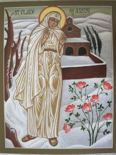 St Francis sun moon icon | St. Clare of Assisi (Mercy Ptak)