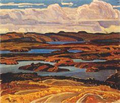 La Cloche Panorama - Franklin Carmichael, Canadian Group of Seven Maurice Denis, Paul Cézanne, Edouard Vuillard, Canadian Painters, Canadian Artists, Paul Gauguin, Henri Matisse, Cool Paintings, Landscape Paintings