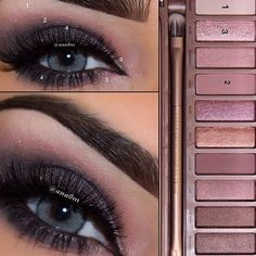 Tutoriel de Maquillage : Urban decay palette I know the pic is blue eyed but this would look great. Urban Decay Eyeliner, Urban Decay Smokey Palette, Kiss Makeup, Love Makeup, Hair Makeup, Makeup Eyebrows, Revlon Makeup, Makeup Eyeshadow, Makeup Brushes