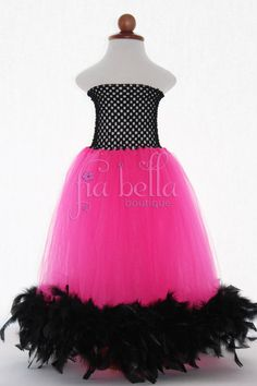 Feather Tutu Dress by FiaBellaBoutique on Etsy