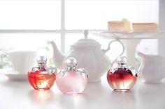Range of Nina fragrances, by Wang Xinyi. www.NinaRicci.com/Nina