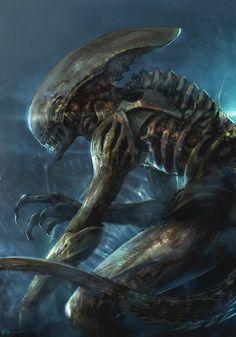 El desván del Freak: Pedazo de ilustración #Alien