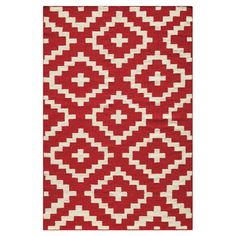 Option one.   Flatweave wool rug handmade in India.  Product: RugConstruction Material: 100% WoolColor: Red
