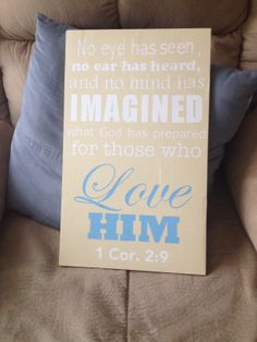 Scripture Wall Art - available in your choice of color family. Memorial Gift idea  https://www.facebook.com/Singingheartdesigns