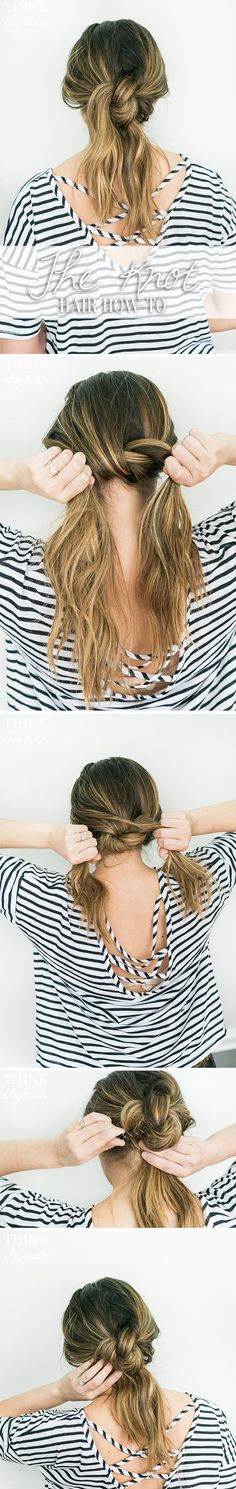 Easy Knot Hairstyle how-to - www.thinkelysian.com
