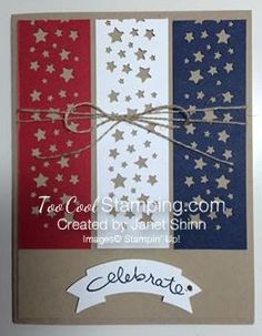 Two Cool Stars & Stripes Celebrate Cards