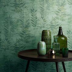 Fern by Galerie - Green - Wallpaper : Wallpaper Direct