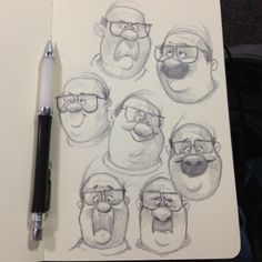 Fun character faces by Dave Mottram.