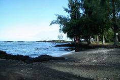 Richardson Ocean Center, Hilo Hawaii Richardson Beach-black sand beach, excellent snorkeling, turtles, calm waters