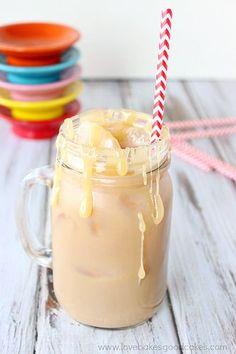 Iced Salted Caramel Latte #beverage #drink #latte #saltedcaramel