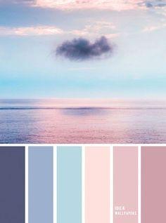 peinture salon tendance Blue and Mauve color palette inspired by sky color ,evening sky color palette Blue and Mauve color palette inspi Bedroom Colour Palette, Blue Colour Palette, Bedroom Color Schemes, Mauve Color, Pastel Colors, Color Blue, Colours, Good Bedroom Colors, Decorating Color Schemes