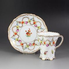 Dresden chocolate cup and saucer