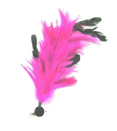 Bendable Feathered Hair Clip Feather Fascinator - Multi Functional -Fuchsia / Hot Pink *** Be sure to check out this awesome product.