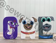 Puppy Dog Pals Custom Paper Mache Letters and Numbers Twin First Birthday, Sons Birthday, First Birthday Parties, First Birthdays, Painted Letters, Wooden Letters, Letters And Numbers, Hand Painted, Birthday Pinata