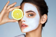 Deep clean your skin with our Citrus Detox Face Mask. Get a glowing complexion while natural moisturizing factors leaves the skin smooth and revitalized. Lemon Face Mask, Lemon On Face, Homemade Face Masks, Homemade Skin Care, Natural Beauty Tips, Natural Skin Care, Vitamin C, Peel Off Mask, Healthy Skin Care