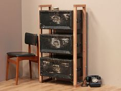 View our  Upcycled Deed-Box Cabinet from the  For The Home collection