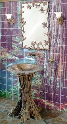 ☮ American Hippie Bohéme Boho Lifestyle ☮  Bathroom .. Magical Forest