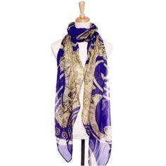 Buy spray paisley scarf fashion scarf purple 180cmX110cm fs0587