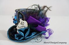 Alice In Wonderland Mini Top Hat, Steampunk Mad Hatter Hat,Women Fascinator, Bridal Hat,Tea Party Hat Stickpin Peacock READY TO SHIP on Etsy, $52.73 AUD
