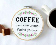 Beginners Cross Stitch Kit DIY craft kit coffee wall art   Etsy