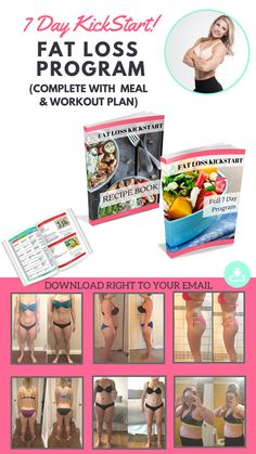 YOUR COMPLETE 7 DAY FAT LOSS KICK START PROGRAM - MEAL PLAN, RECIPES, WORKOUT, & MINDSET INCLUDED