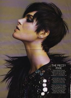 "punk rock short hair women | dub this the ""rock star pixie""– perfectly tousled, yet prim ..."