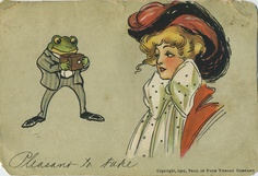 """""""Frog in Your Throat?"""", 1900s   Retronaut - love her giant polka dot bow!"""