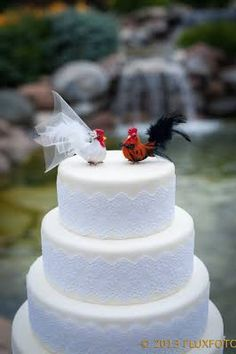 hen and rooster cake topper - Google Search