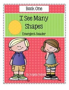 This is a cute 6 page emergent reader that creates a bear out of  shapes. It is a great book to add to a Bear theme, Math center, or a Unit on Shapes. I have also added a Bear craft for the children to make, just like the one in the book but larger in size.